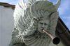 Skulptur an der Erlöserkapelle Biburg