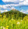 Blick auf die Burg Hohenzollern von Bisingen-Zimmern