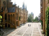 Burghof Burg Hohenzollern