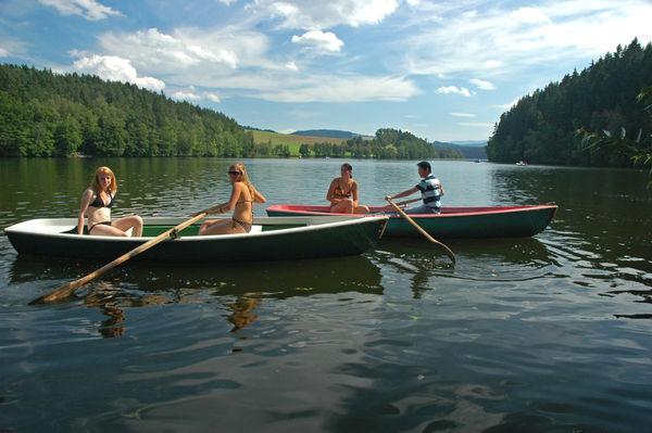 Bootfahren am Blaibacher See