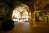 Innenansicht Badhaus der Mönche