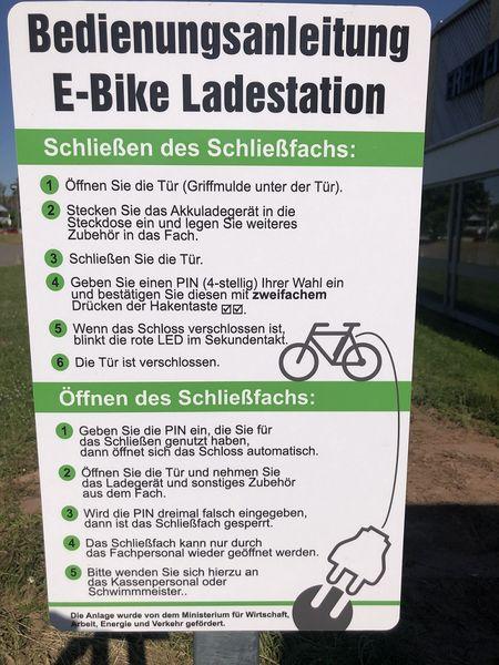 E Bike Ladestation Freizeitzentrum Blieskastel