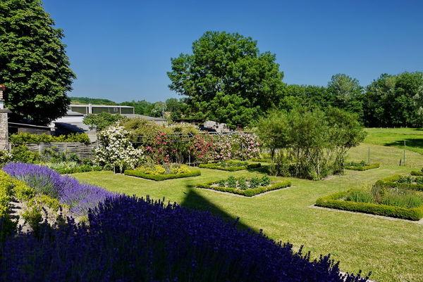 Blick in den Pirminiusgarten von der Dorfkirche, Blieskastel