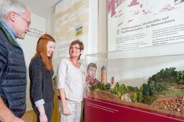 Modell der Kirkeler Burg, Tourist-Info Blieskastel