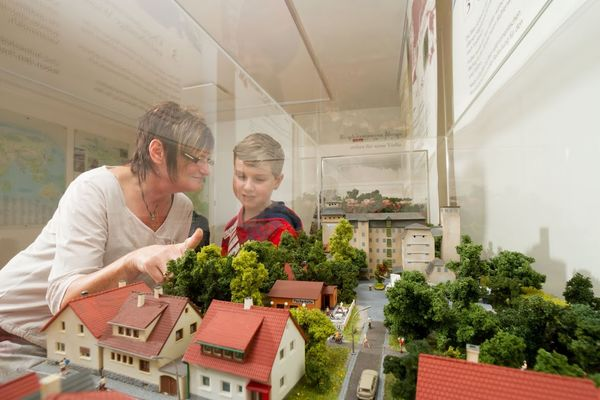 Modell im Innenraum der Tourist-Info Blieskastel