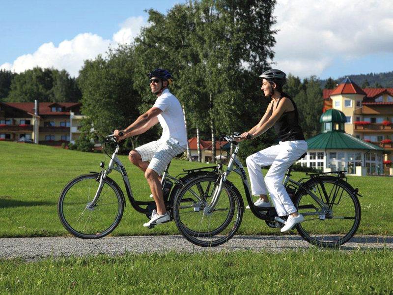 Erkunden Sie mit dem E-Bike die herrliche Landschaft rund um den Urlaubsort Bodenmais