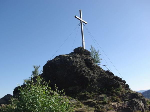 Gipfelkreuz auf dem Erlebnisberg Silberberg in Bodenmais