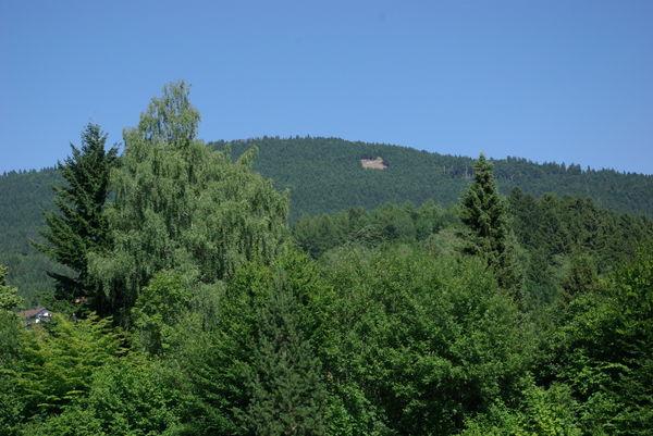 Blick zum Drachen- und Gleitschirmstartplatz am Hochzellberg bei Bodenmais im Bayerischen Wald