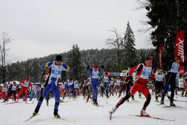 Start beim Skadi Loppet im Aktivzentrum Bodenmais im Bayerischen Wald