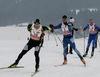 Die Rennläufer werden beim Skadi Loppet im Aktivzentrum Bodenmais im Bayerischen Wald verpflegt