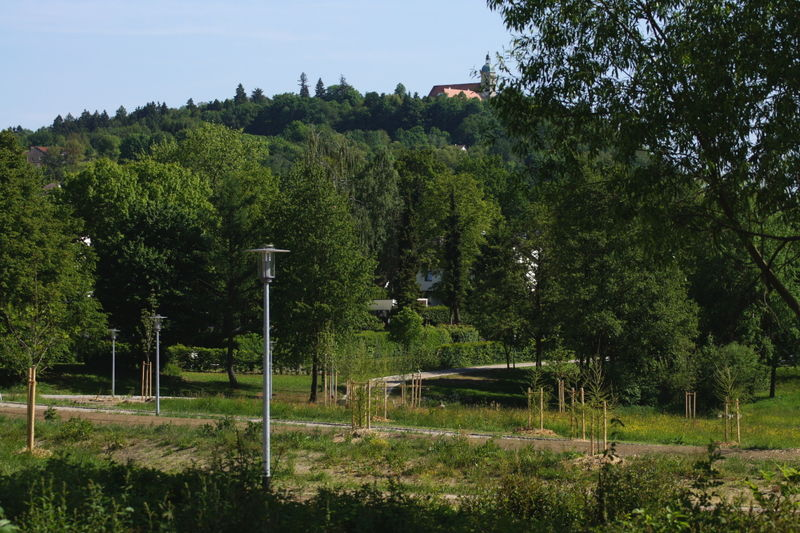 Blick über den Europapark Bayern-Böhmen zum Bogenberg