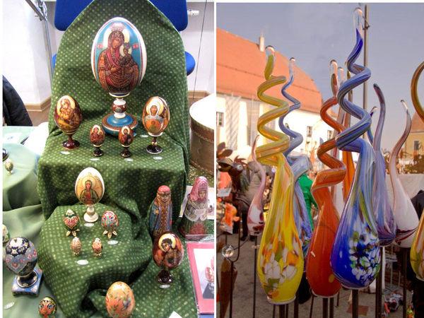 Internationale Ostereierkunst und Glaskunst beim Klostermarkt in Bogen
