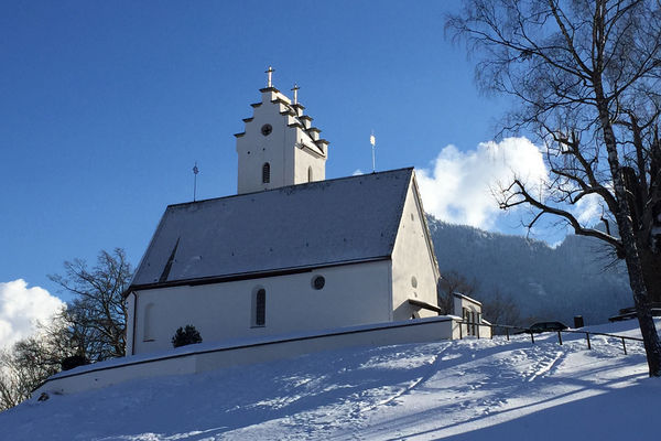 St. Margaretha Kirche im Winter