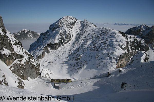 Wendelsteinbahn im Winter