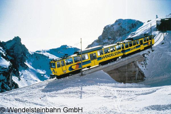 Wendelsteinzahnradbahn im Winter