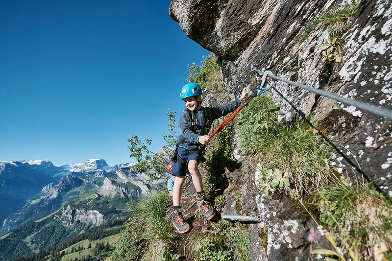 Climbing trail for beginners and children