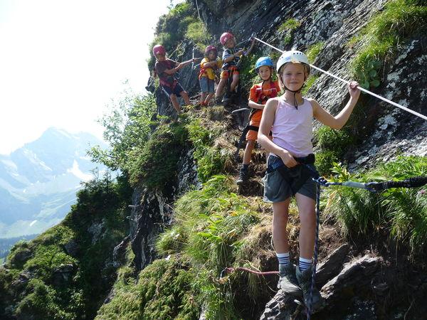 Klettersteig Kinder : Einsteiger und kinderklettersteig braunwald