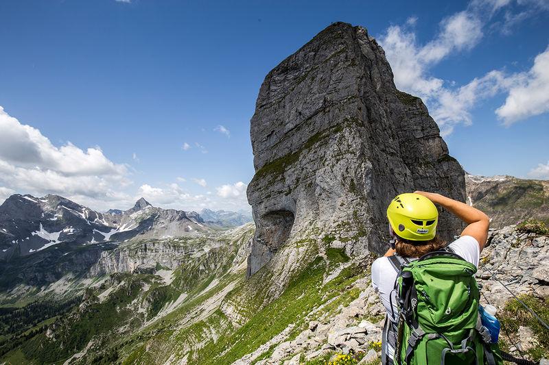 Klettersteig Braunwald : Klettergarten braunwald
