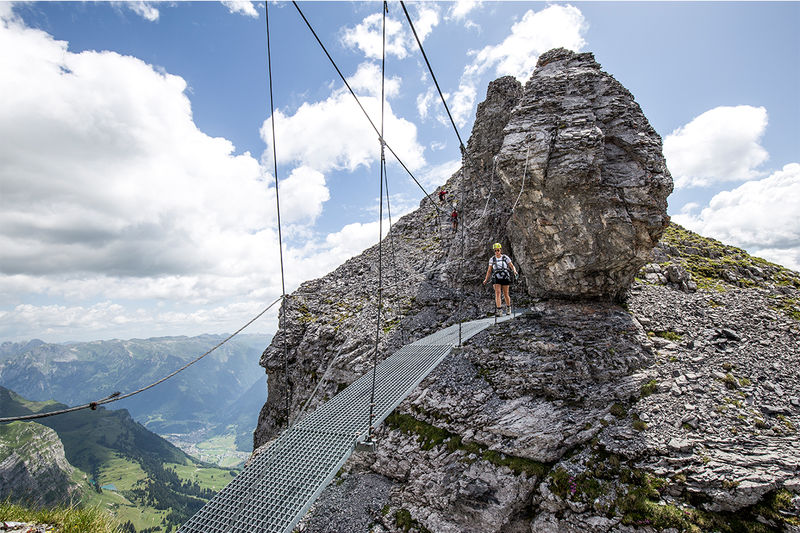 Klettersteig Ostschweiz : Klettersteige in der schweiz