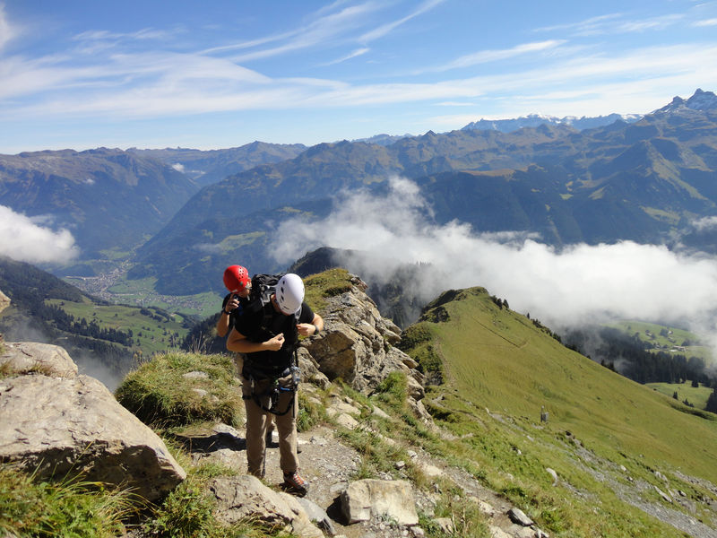 Klettersteig Netstal : Wilde wasser klettersteig sulzenau bergsteigen