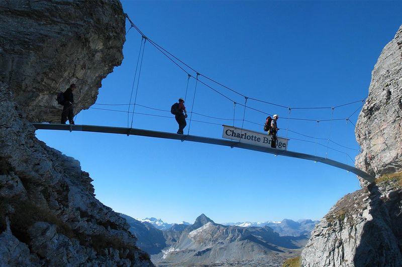 Klettersteig Netstal : Madrisella klettersteig bergsteigen