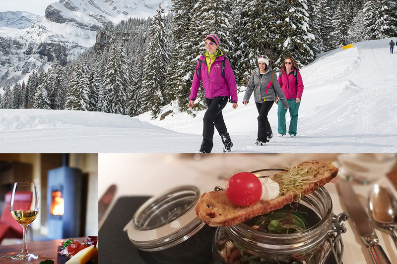 Winter gourmet hike Braunwald