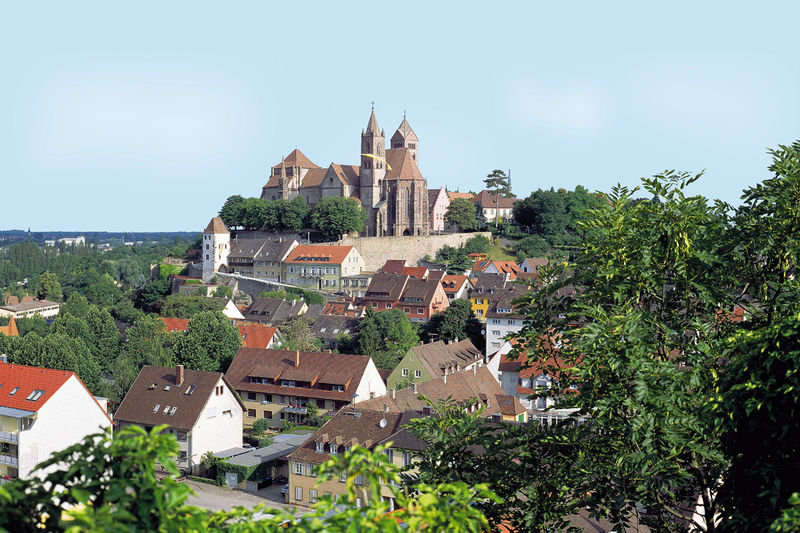 Blick auf Breisach und das St. Stephansmünster