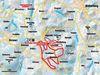 Streckenverlauf der Blutwurzloipe in Breitenberg