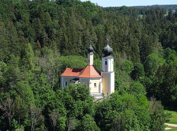 Blick auf die Wallfahrtskirche St. Sebastian