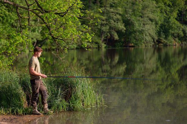 Angler am großen Teppelsee, Foto: Florian Läufer