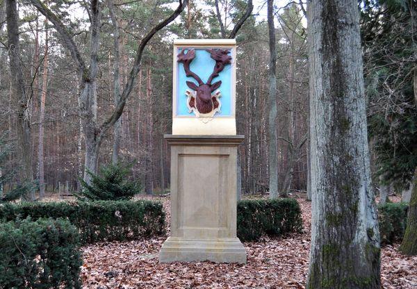 Hirschdenkmal Briesen, Foto: Henry Babuliack
