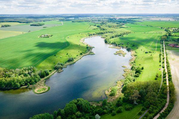 Luftaufnahme Lietzener Teiche, Foto: Christoph Creutzburg , Lizenz: Seenland Oder-Spree