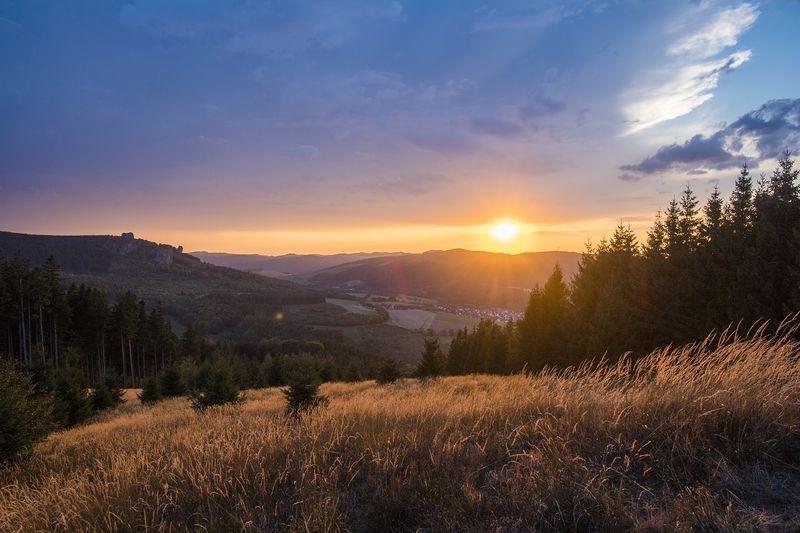 Sonnenuntergang auf dem Ginsterkopf