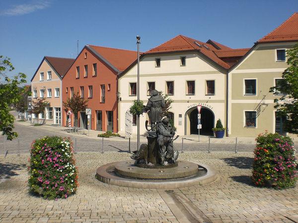Marktplatz von Bruck in der Oberpfalz