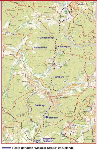 Deutsche Grundkarte (Ausschnitt des Naturschutzgebietes Wacholderheide Gambach), bearbeitet von Regine Rottwinkel, Fachworkgrafik