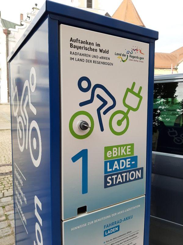 eBike-Ladestation am Marktplatz Cham