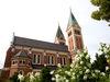 Blick auf die Klosterkirche MARIA HILF der Redemptoristen in Cham