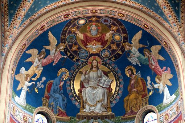 Deckengemälde in der Klosterkirche MARIA HILF in Cham