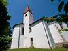 Blick auf die Wallfahrtskirche Lamberg bei Chammünster im Naturpark Oberer Bayerischer Wald