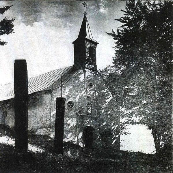 Kapelle auf dem Haidstein in früheren Jahren, die heutige Wallfahrtskirche ST. ULRICH