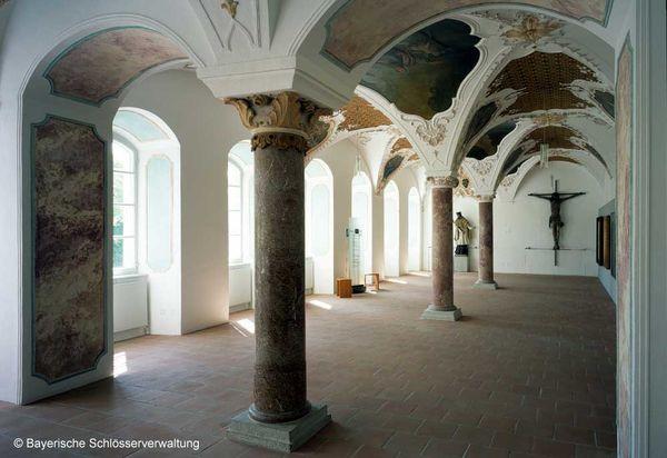 Der barocke Bibliothekssaal.