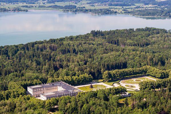 Luftaufnahme Schloss Herrenchiemsee