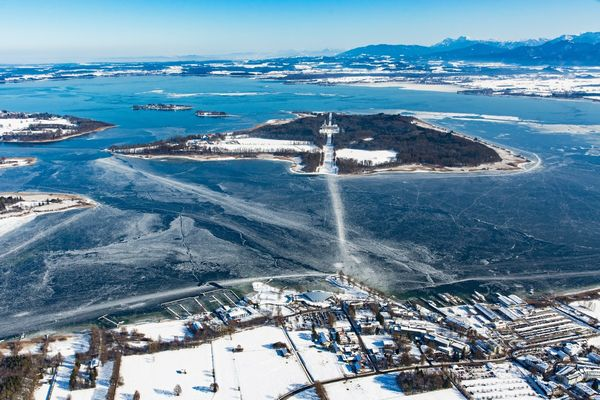 Herrenchiemsee im Winter