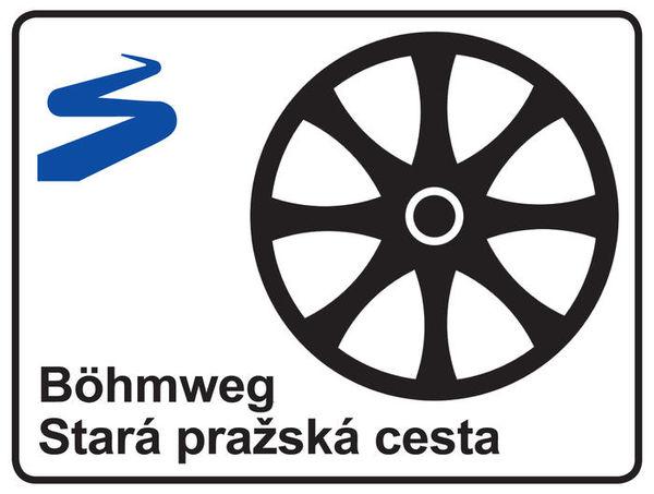 Markierung Fernwanderweg Böhmweg