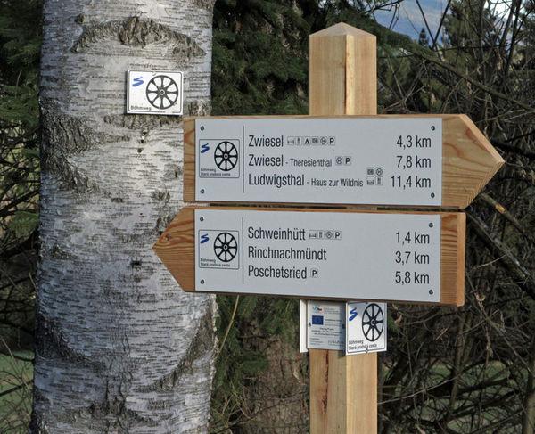 Wegweiser am Böhmweg