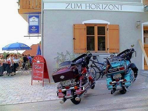 Bikes vor dem Gästehaus Zum Horizont in Tattenberg bei Deggendorf