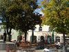 Gemütlicher Biergarten beim Cafe Gotthard in Hengersberg