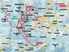 Streckenverlauf der Loipen im Langlaufgebiet Bischofsmais-Rusel