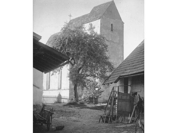 Die Schachinger Kirche in Deggendorf um ca. 1920