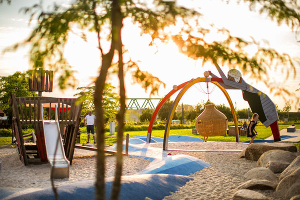 Rund 2.000 Quadratmeter Spielfläche im Donaupark.